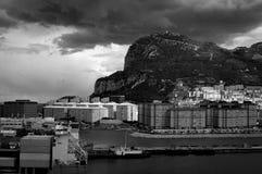 Innenstadt von Gibraltar Stockfotos