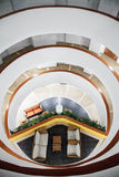 Innenstruktur des Decameron-Aquarium-Hotels Lizenzfreie Stockbilder