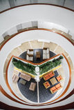 Innenstruktur des Decameron-Aquarium-Hotels Stockfotos