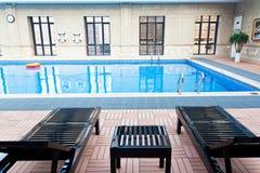 Innenswimmingpool Stockfotografie