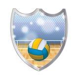 Innenvolleyball-Emblem-Illustration Stockfotografie