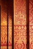 InnenWandbild des Dämonzeichens, Wat Prathad Ruang Rong, Thailand lizenzfreies stockbild