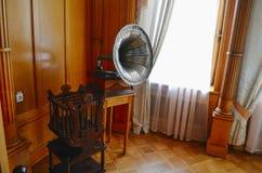 Innenwohnzimmer (Boudoir) Kaiserin im Livadia-Palast, Krim Lizenzfreies Stockbild