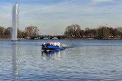 The Inner Alster Lake (Binnenalster), Hamburg, Germany Royalty Free Stock Photography