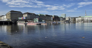 The Inner Alster Lake (Binnenalster), Hamburg, Germany Stock Photo