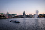 Inner Alster Lake or Binnenalster Stock Image