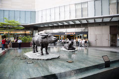 Inner area Marina Bay Financial Centre, Singapore Stock Photo