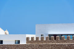 Inner building of Sagres Fortress complex in Portugal. Royalty Free Stock Photos