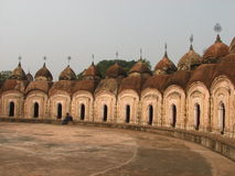 108 Shiva Temple. The inner circle of the 108 Shiva Temple in Kalna, Bardhaman, West Bengal, India Royalty Free Stock Photo