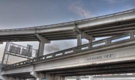 Inner city bridges Royalty Free Stock Photo