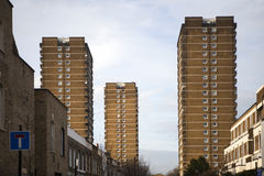 Inner city council homes, Stock Images