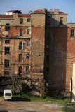 Inner city ghetto building. Back lot of a messy, inner city, ghetto building Royalty Free Stock Images