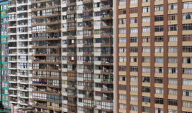 Inner city high-rise apartments Stock Photos