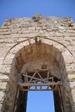 Inner city main gate, Methoni Castle royalty free stock photography