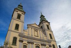 Inner City Parish Church in Budapest (Hungary) Royalty Free Stock Photo