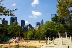 Inner city playground. Kids playground at Central Park, New York City Royalty Free Stock Image