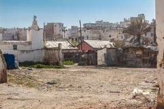 Inner-city slum in Casablanca. Morocco Royalty Free Stock Images