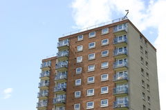 Inner City Tower Block Stock Images