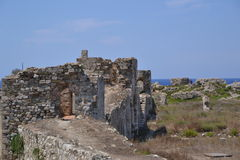 Inner city wall fortifications, Methoni Castle Royalty Free Stock Photography