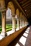 Inner cloister in Jacobins church. Inner artistic cloister in Jacobins church, Toulouse, south France. The artisitic cloister is best beauty building of church Royalty Free Stock Photography