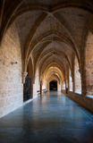 Inner cloister at the Monasterio de Piedra Stock Image