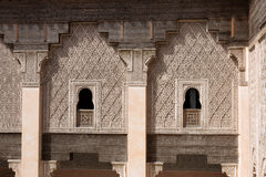 Inner court of the Ben Youssef Madrasa Royalty Free Stock Images
