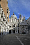 Inner court of Doge's Palace. VENICE, ITALY Royalty Free Stock Photo