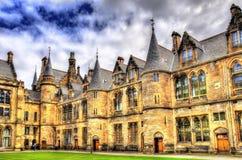 Inner court of Glasgow University. Scotland Royalty Free Stock Image