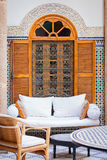 Inner court interior. Moroccan-French interior, style and design Stock Images