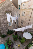 Inner court at the Old Town in Dubrovnik Stock Image