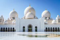 Sheikh Zayed Grand Mosque. Inner court of Sheikh Zayed Grand Mosque in Abu Dhabi, UAE royalty free stock photo