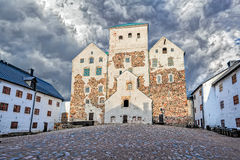 Inner court of Turku castle Stock Photo
