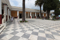 Inner courtyard at Achilleion, Corfu Royalty Free Stock Photography