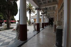 Inner courtyard at Achilleion, Corfu Royalty Free Stock Image