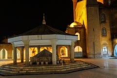 Inner courtyard amd sadivan fountain f Royalty Free Stock Photography