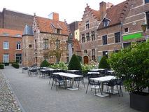 A inner courtyard in Antwerp Stock Images