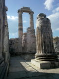 Inner courtyard of Apollon Temple Stock Photo