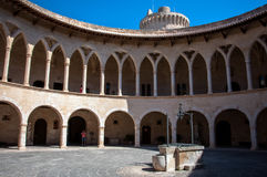 Inner courtyard of the Bellver Castle in Mallorca, Spain. Inner courtyard of the Bellver Castle in Mallorca Stock Images