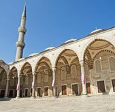 Inner courtyard of the Blue Mosque in Istanbul Stock Photos