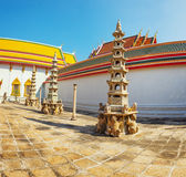 Inner courtyard of a Buddhist temple. Thailand, Bangkok Royalty Free Stock Photography