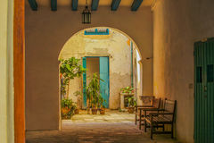 Inner courtyard in caribbean house Royalty Free Stock Image