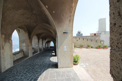 Inner courtyard of the Castel Sant'Elmo, Naples Italy Royalty Free Stock Photos
