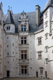 The inner courtyard of the castle of Pau Royalty Free Stock Photography