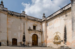 Inner courtyard of cathedral Stock Images