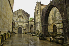 The inner courtyard of The Cathedral of Braga Royalty Free Stock Images