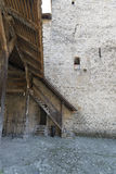 Inner courtyard of Chillon Castle, Switzerland Stock Images