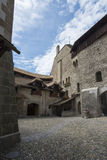 Inner courtyard of Chillon Castle, Switzerland royalty free stock photography