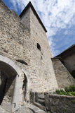 Inner courtyard of Chillon Castle, Switzerland stock photography