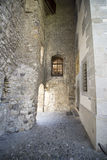 Inner courtyard of Chillon Castle, Switzerland stock photos