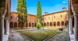 Inner Courtyard of Church San Francesco della Vigna, Venice, Italy Royalty Free Stock Photo